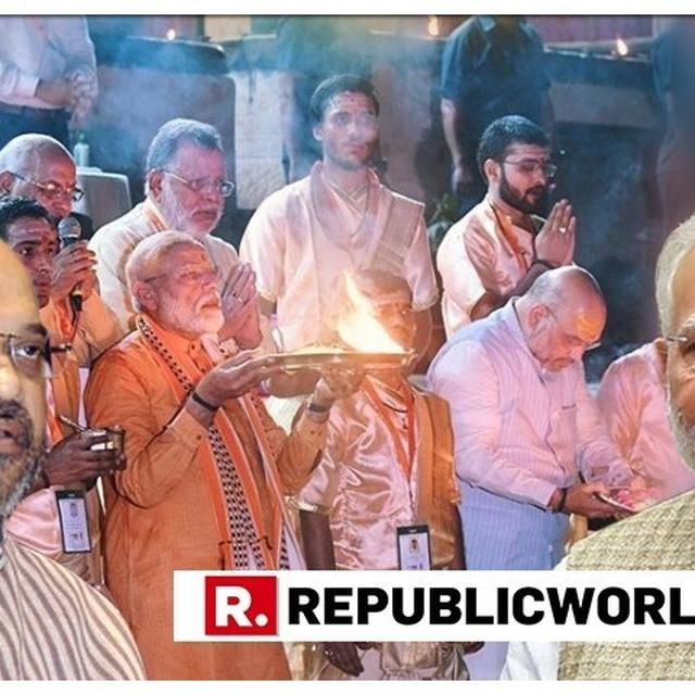 """PRAYED FOR INDIA'S PEACE AND PROSPERITY"", SAYS PM MODI ON PERFORMING GANGA AARTI AT DASHASHWAMEDH GHAT IN VARANASI AHEAD OF FILING HIS NOMINATION"