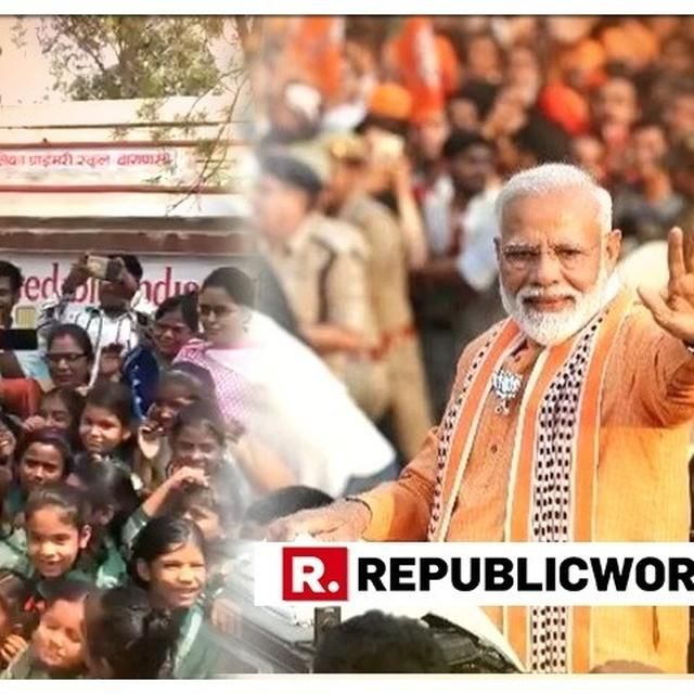WATCH: AMID HECTIC SCHEDULE IN VARANASI WHERE HE'S FILING HIS ELECTION NOMINATION, PM MODI HOLDS ADORABLE INTERACTION WITH SCHOOL STUDENTS