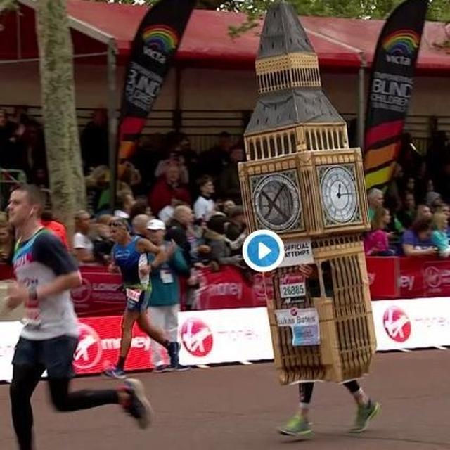 WATCH: 'BIG BEN' ATTEMPTS TO BEAT THE CLOCK IN A MARATHON, TICKLES TWITTER'S FUNNY BONE. HERE'S HOW IT DID