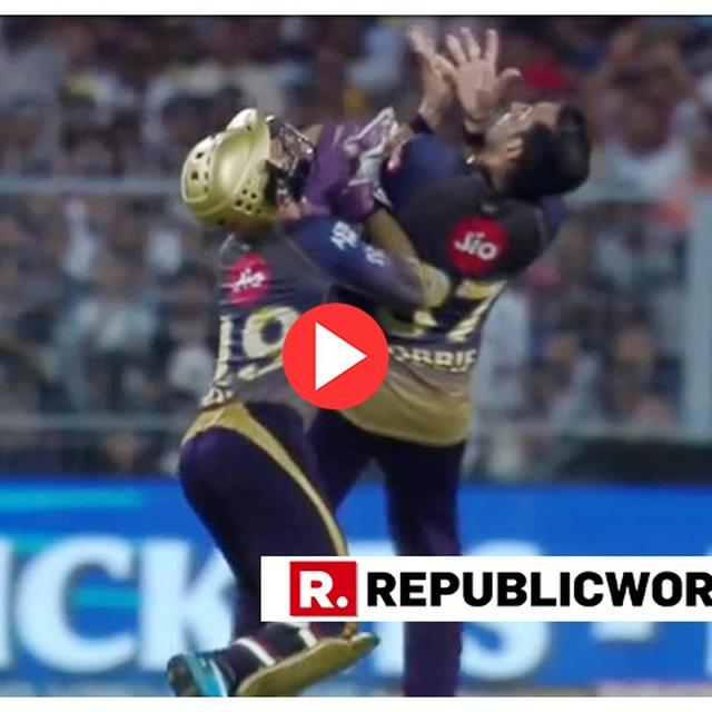 COMEDY OF ERROR: KARTHIK AND UTHAPPA GO FOR SAME CATCH, DROP IT AFTER COLLISION. WATCH VIRAL VIDEO