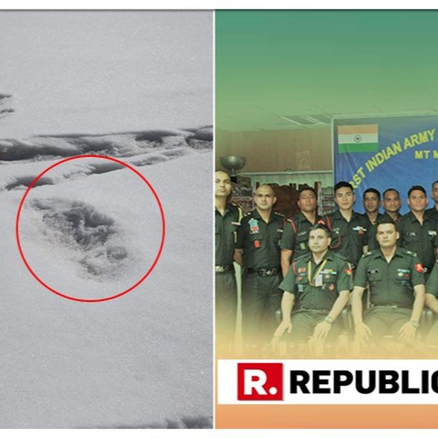 INDIAN ARMY TWEETS FOOTPRINT MEASURING 32X15 INCHES OF MYTHICAL BEAST 'YETI' SIGHTED BY EXPEDITION TEAM. DETAILS HERE