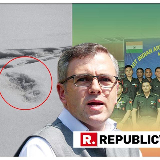 OMAR ABDULLAH LEVELS SARCASTIC ELECTION JIBE AT BJP OVER ARMY'S MYSTERIOUS 'YETI' FOOTPRINT FIND. HERE IT IS