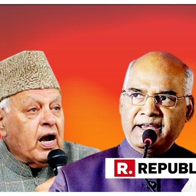 WATCH: FAROOQ ABDULLAH SLAMS CONGRESS OVER ATTACK ON PRESIDENT KOVIND, SAYS 'THEY DON'T KNOW WHAT THEY ARE TALKING ABOUT'
