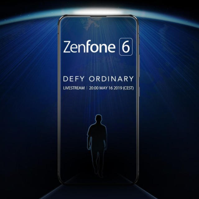 ASUS TEASES ZENFONE 6 WITH FULL-SCREEN DESIGN AND NO NOTCH, LAUNCH SET FOR MAY 16
