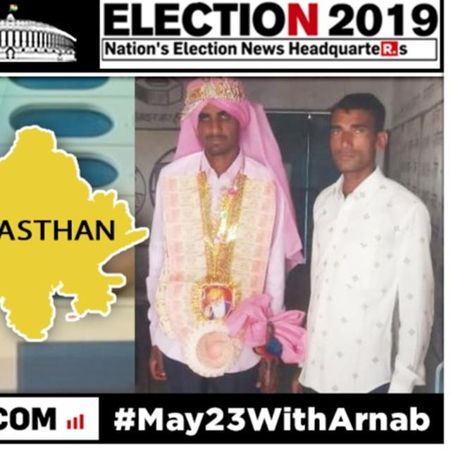 WITH NATIONAL DUTY TAKING PRECEDENCE OVER PERSONAL DUTY, BRIDEGROOM CASTS HIS VOTE ON THE WAY TO HIS WEDDING IN RAJASTHAN