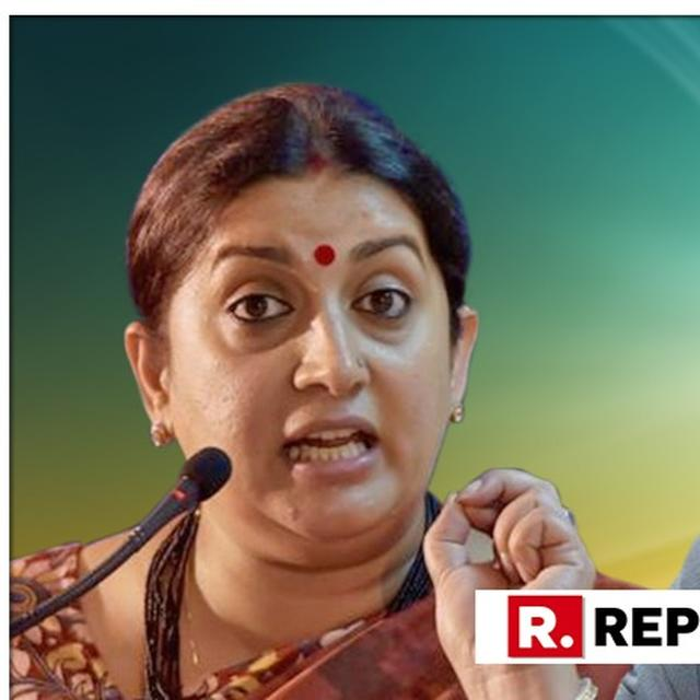 WATCH: HERE'S WHAT SMRITI IRANI HAD TO SAY ABOUT ROBERT VADRA'S PERSONAL ATTACK AGAINST HER