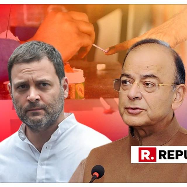 ARUN JAITLEY HITS OUT AT CONGRESS' DOUBLE-STANDARDS OVER RAHUL GANDHI'S 'CHOWKIDAR CHOR HAI' AND PM'S 'CORRUPT NO. 1'