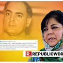 HERE'S WHY PDP CHIEF MEHBOOBA MUFTI THINKS THAT PM MODI'S 'BHRASHTACHAR' REFERENCE TO FORMER PM RAJIV GANDHI WILL HELP THE CONGRESS