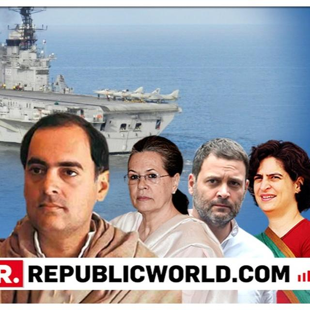 """SENSATIONAL: CONGRESS ACCEPTS AND BRAZENS OUT RAJIV GANDHI'S USE OF INS VIRAAT FOR LAKSHADWEEP VACATION, SAYS """"IT WAS HIS RIGHT, ANY PM WOULD DO SO"""""""