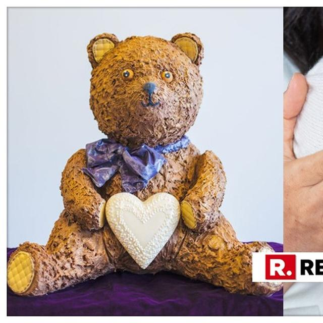SWEET BEAR-ALERT: 28-KG CHOCOLATE TEDDY BEAR MADE TO COMMEMORATE THE BIRTH OF THE ROYAL BABY