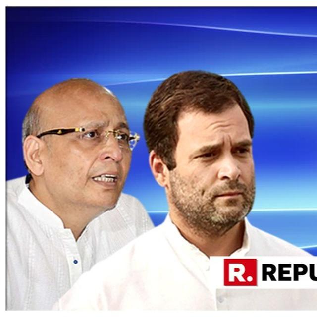 CONGRESS DUBS BJP AS 'BAHUT JHOOTH PARTY' OVER RAHUL GANDHI CITIZENSHIP ROW