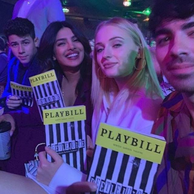 "IN PICTURES | ""DOUBLE TROUBLE!"": PRIYANKA CHOPRA-NICK JONAS ENJOY AN OUTING WITH NEWLYWEDS JOE AND SOPHIE TURNER"