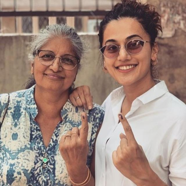 TAAPSEE PANNU'S MESSAGE POST CASTING HER VOTE IN DELHI ON MOTHER'S DAY CAN'T BE MISSED. READ HERE