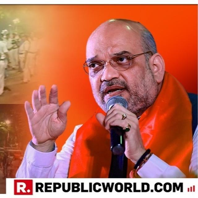 WATCH: VIOLENT CLASHES BREAK OUT AT AMIT SHAH'S KOLKATA ROADSHOW, POLICE ATTACKED AND BLACK FLAGS RAISED