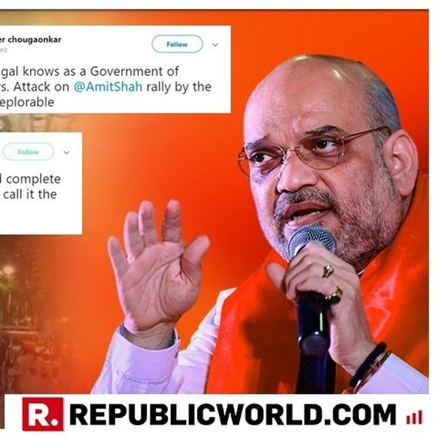 'THE ATTACK ON AMIT SHAH'S PEACEFUL RALLY IS DEPLORABLE': NETIZENS REACT OVER ATTACK ON BJP CHIEF'S MEGA ROADSHOW IN KOLKATA