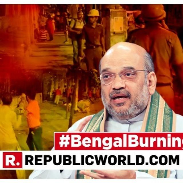 WATCH: IN EXPLOSIVE BRIEFING, AMIT SHAH COUNTERS TRINAMOOL'S 'BJP VANDALISED VIDYASAGAR BUST' CLAIM AND SENDS WB CM MAMATA BANERJEE A MESSAGE OVER 'KICHAD OF VIOLENCE'