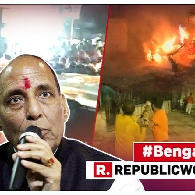 'DEEPLY CONCERNED', SAYS HOME MINISTER RAJNATH SINGH AFTER CLASHES AT AMIT SHAH'S ROADSHOW IN KOLKATA