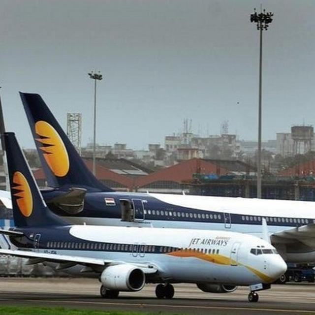 JET AIRWAYS SHARES CONTINUE TO FALL; DROP OVER 5 PC AS TOP EXECS DE-BOARD AIRLINE