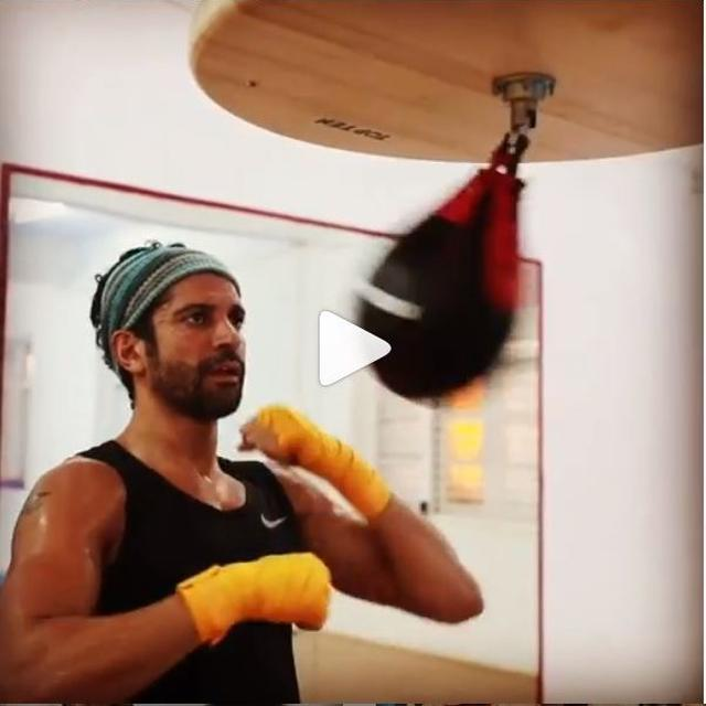 WATCH: FARHAN AKHTAR GOES TO TOWN ON HIS PUNCHING BAG, SAYS IT'S 'TOOFAN IN THE MAKING'