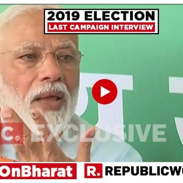 EXCLUSIVE: 'OPPOSITION UNITY IS LIKE OIL AND WATER - THEY APPEAR TOGETHER BUT DON'T MIX,' EXPLAINS PM MODI IN FINAL 2019 CAMPAIGN TRAIL INTERVIEW