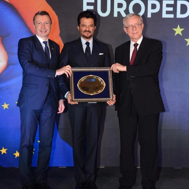 ANIL KAPOOR FELICITATED BY EUROPEAN CHAMBERS OF COMMERCE IN INDIA
