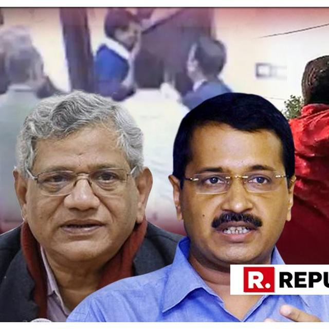 WATCH: CPI(M) CHIEF SITARAM YECHURY CONCURS WITH AAP CHIEF ARVIND KEJRIWAL'S 'INDIRA GANDHI-LIKE ASSASSINATION' FEAR