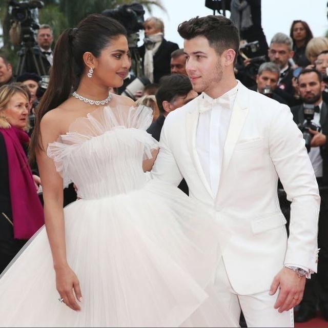 CANNES 2019: PRIYANKA CHOPRA AND NICK JONAS STUN THE RED CARPET IN WHITE TULLE GOWN AND MATCHING PANTSUIT AS THEIR 'RIVIERA ROMANCE' CONTINUES