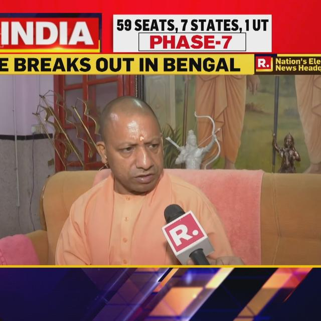 YOGI ADITYANATH AMONG EARLY VOTERS TO EXERCISE FRANCHISE IN UP