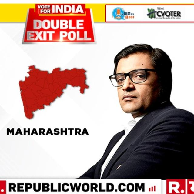 REPUBLIC DOUBLE EXIT POLL: IN MAHARASHTRA, THE BJP-SHIVSENA COMBINATION IS SET ROUT THE CONGRESS-NCP ALLIANCE WINNING 34 SEATS OUT OF THE 48 LOK SABHA SEATS