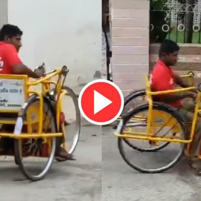 VIDEO: DIFFERENTLY ABLED ZOMATO DELIVERY MAN DELIVERS FOOD