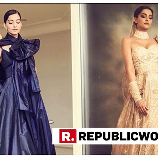 PURPLE GOWN BY ELIE SAAB OR A DRAMATIC GOLD OUTFIT? SONAM KAPOOR STEALS THE LIMELIGHT AT CANNES 2019