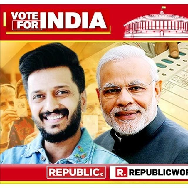 'DEMOCRACY NEEDS TO BE CELEBRATED': RITEISH DESHMUKH CONGRATULATES PM NARENDRA MODI ON HIS IMPENDING VICTORY IN LOK SABHA 2019 ELECTIONS