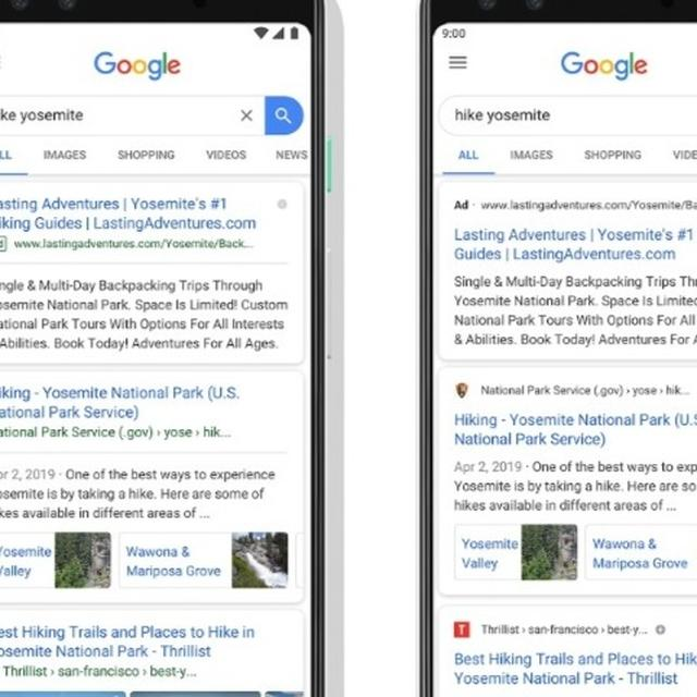Google Search Results UI on Mobile Phones Refreshed