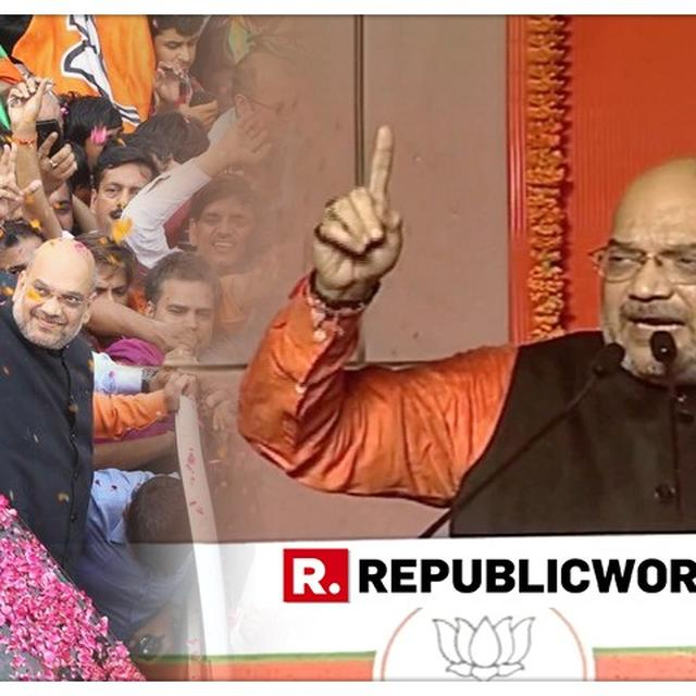 VIRAL: IN 2019 LOK SABHA ELECTIONS VICTORY SPEECH, AMIT SHAH LISTS CONGRESS' 'BIG ZERO' SEATS