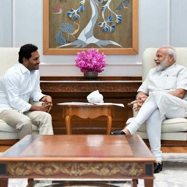 IN PICTURES: YSRCP CHIEF JAGANMOHAN REDDY MEETS PM NARENDRA MODI IN DELHI AHEAD OF TAKING OATH AS ANDHRA PRADESH CHIEF MINISTER
