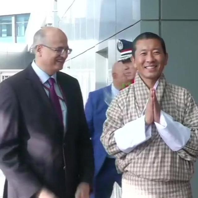 BHUTAN PM REACHES DELHI FOR MODI'S OATH CEREMONY