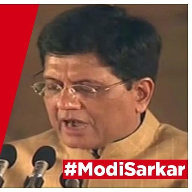 WATCH | PIYUSH GOYAL TAKES OATH AS A NEWLY-INDUCTED CABINET MINISTER IN THE MODI CABINET 2.0 AT THE SWEARING-IN CEREMONY AT RASHTRAPATI BHAWAN