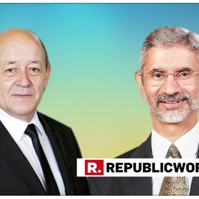 FRENCH FOREIGN MINISTER JEAN-YVES LE DRIAN CONGRATULATES NEW INDIAN COUNTERPART S JAISHANKAR
