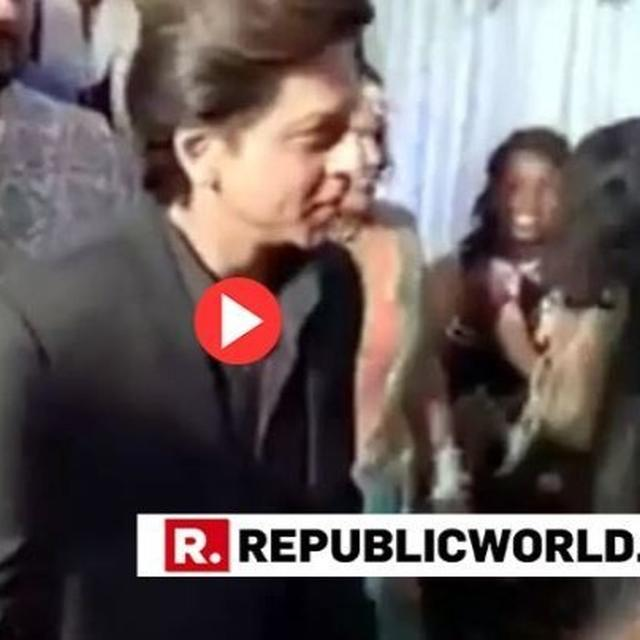 WATCH: SHAH RUKH KHAN ATTENDING HIS STAFFER'S WEDDING IS MAKING THE INTERNET SMILE, NETIZENS LEFT SUPER-IMPRESSED