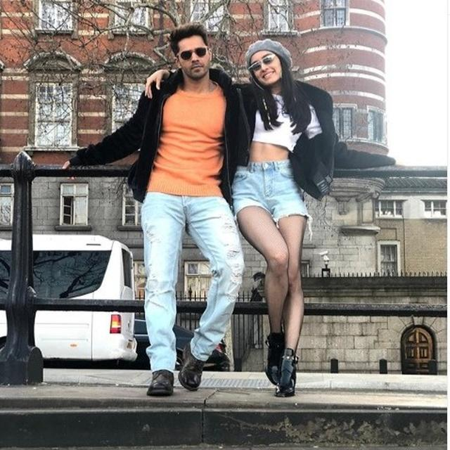 SHRADDHA KAPOOR SHARES HAPPY PICTURE WITH VARUN DHAWAN FROM SETS OF 'STREET DANCER 3D'