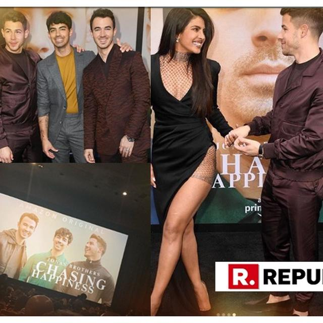 IN PICTURES | FROM PRIYANKA CHOPRA PRAISING JONAS BROTHERS' BOND TO JOE JONAS TURNING PHOTOGRAPHER FOR SOPHIE TURNER, THE 'CHASING HAPPINESS' PREMIERE WAS AN EXTRAVAGANT AFFAIR