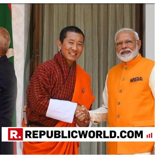 """RECOGNITION OF HIS ROLE..."", SAYS PM MODI'S BHUTANESE COUNTERPART LOTAY TSHERING AS HE CONGRATULATES HIM ON BEING CONFERRED WITH MALDIVES' HIGHEST HONOUR"