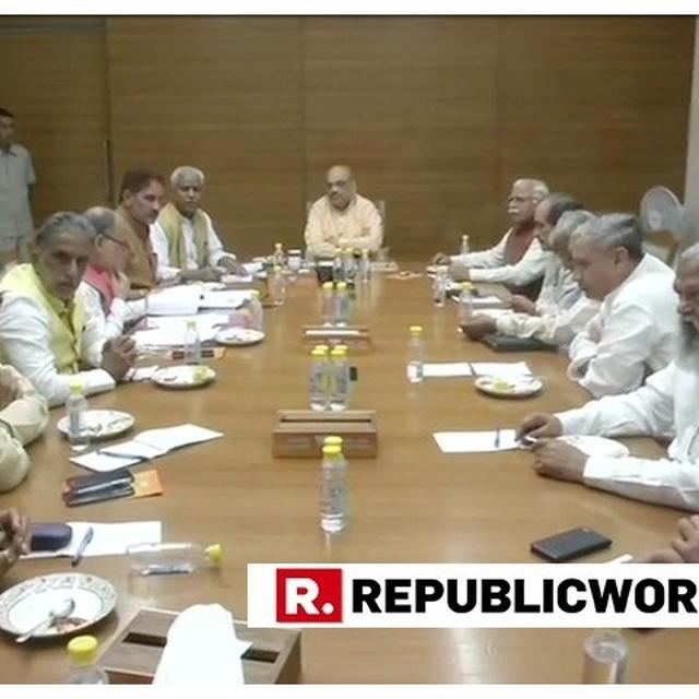 BJP CHIEF AMIT SHAH HOLDS STRATEGY MEETING WITH PARTY LEADERS OF POLL-BOUND STATES; FIRST FOCUS ON HARYANA, JHARKHAND AND MAHARASHTRA