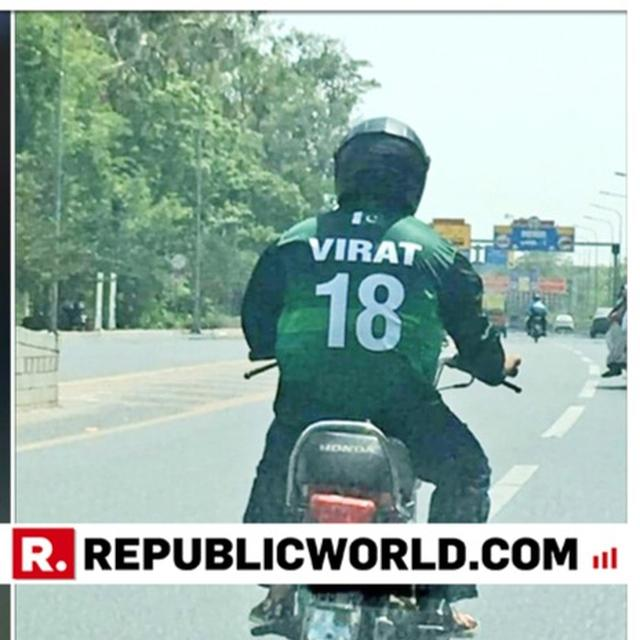 CROSS-BORDER CRICKET LOVE: VIRAT FAN SPOTTED IN PAKISTAN'S LAHORE, AS INDIA FACES AUSTRALIA IN ITS SECOND WORLD CUP MATCH