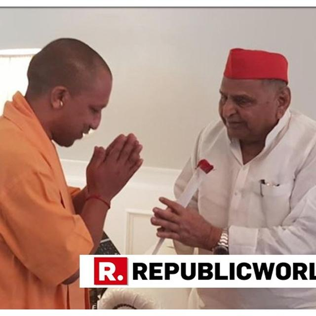 UP CM YOGI ADITYANATH MEETS MULAYAM SINGH YADAV AFTER THE LATTER WAS ADMITTED TO HOSPITAL OVER HIGH BLOOD PRESSURE ON SUNDAY