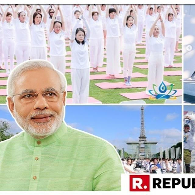 IN PICTURES | PM NARENDRA MODI URGES PEOPLE TO PARTICIPATE ON YOGA DAY 2019, POSTS PICTURES OF THE GLOBAL EVENT BEING CELEBRATED WITH 'IMMENSE FERVOUR'
