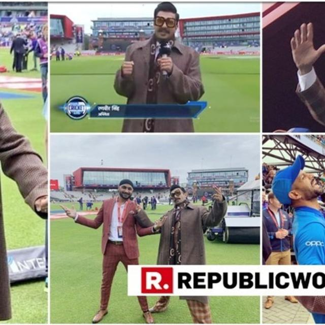 WATCH: FROM COMMENTARY TO CHILLING WITH TEAM INDIA ON FIELD, RANVEER SINGH BECAME CHEERLEADER EXTRAORDINAIRE AT THE INDIA VS PAKISTAN WORLD CUP MATCH