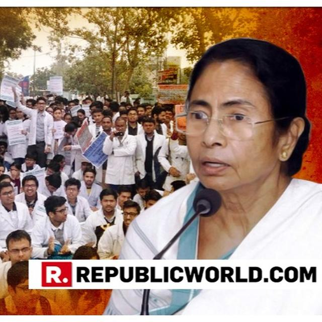 AGITATED WEST BENGAL DOCTORS TO MEET CM MAMATA BANERJEE, INSIST ON PRESENCE OF MEDIA FOR THE MEETING TO BE RECORDED