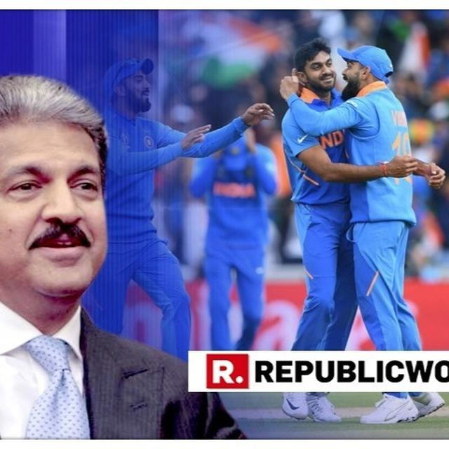 """""""INDIA HAS BIGGER FISH TO FRY,"""" SAYS ANAND MAHINDRA HAILING THE 'EMBARRASSINGLY EASY WIN'. HERE'S HIS LARGER POINT OVER BEATING PAKISTAN AT WORLD CUP 2019"""