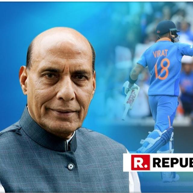 """""""INDIAN TEAM PLAYED AN AMAZING GAME OF CRICKET,"""" SAYS DEFENCE MINISTER RAJNATH SINGH; """"RAIN CAN HALT PLAY, BUT CAN'T STOP...,"""" EXTOLS SURESH PRABHU, AFTER INDIA DEFEATS PAKISTAN"""